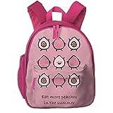 JKSA Bolso de Hombro para niñas pequeñas Mochilas Rosadas con Estampado de Melocotones para niños para Acampar