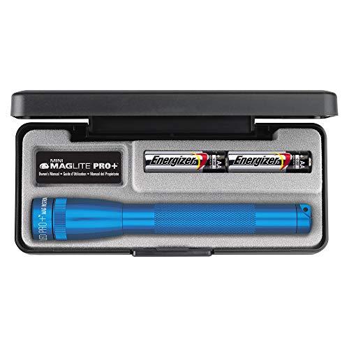 Maglite Mini Pro Plus R6 LED-Taschenlampe in Etui, 16,8cm, Blau