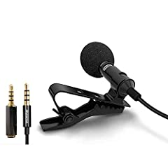 QUALITY AUDIO RECORDINGS - Create great podcasts & videos with noise and echo free with this Alvoxcon Lavaliver Lapel Microphone. Simply plug it into your phone or computer 3.5mm Port, clip it on to your shirt and get Clear, Crisp, sound FULL SMARTPH...