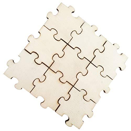 Amosfun 50 Unids Puzzle En Blanco Sin Terminar Recorte