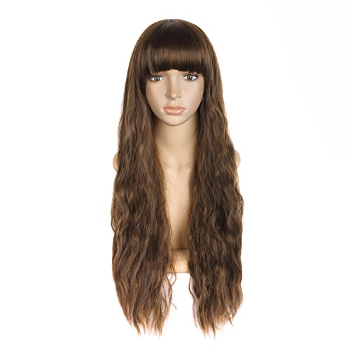 haz tu compra pelucas largas marrones on line