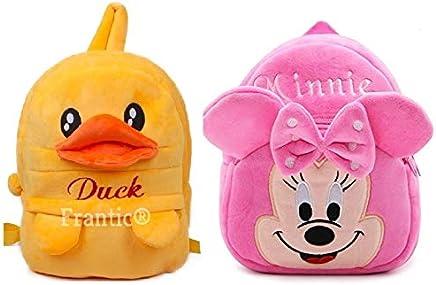 Frantic Velvet Kids School/Nursery/Picnic/Carry/Travelling Bag - 2 to 5 Age (HiGirl_DuckP)