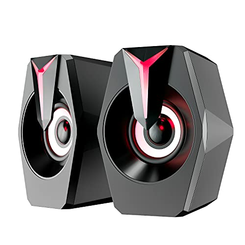 Computer Speakers,PC Speakers with Deep Bass,Laptop Speakers with Subwoofer for PC/Laptop/Smart Phone (RDSK8)