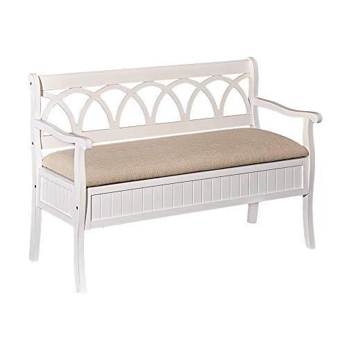 Powell Furniture Elliana Bench, White
