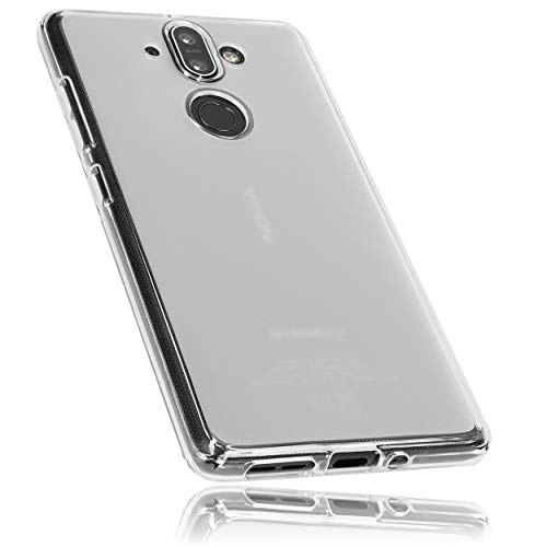 mumbi Hülle kompatibel mit Nokia 8 Sirocco Handy Hülle Handyhülle, transparent weiss