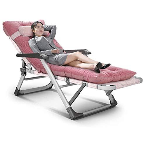 JJSFJH Chairs Zero Gravity Pliant rembourré, Recliners Heavy Duty Personnes Sun Transats, Garden Beach Lounge Chair avec Coussin épais