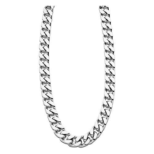 LOTUS JLS1933-1-1 - Collar de acero inoxidable para hombre, color plateado