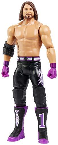 WWE - SummerSlam Figura de acción luchador AJ Styles con accesorios de lucha Juguetes niños +6 años (Mattel GCB64)
