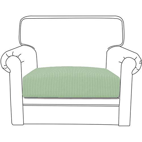 Silingsan Housse de Canapé Extensible Housse de Fauteuil Jacquard Couvre pour Canapé Protege de Meubles Antipoussière (1 Place, Vert Matcha)