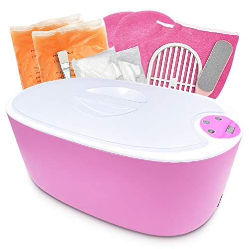 Paraffin Wax Machine for Hand and Feet - 5000ml Large Capacity Paraffin Bath for Smooth and Soft Skin - Quick Heating Paraffin Wax Warmer with Paraffin Wax Refills for SPA & Arthritis Treatment (PINK)