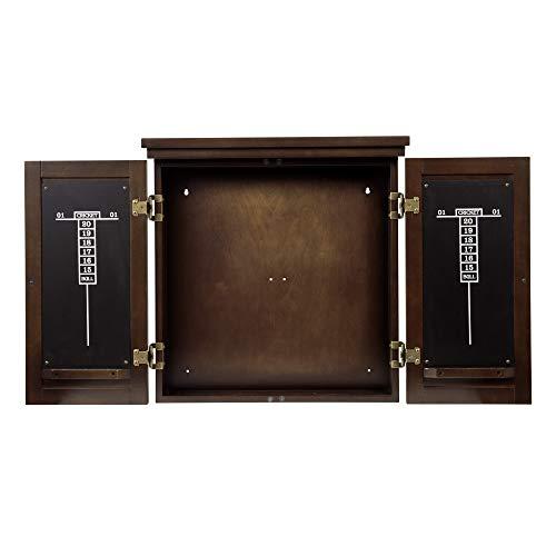 American Legend Traditional Dartboard Cabinet, Brown