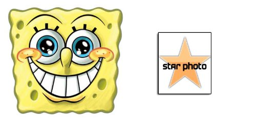 BundleZ-4-FanZ Fan Packs Spongebob Smile Karte / Pappe Partei Maske - Enthält 6X4 (15X10Cm) starfoto