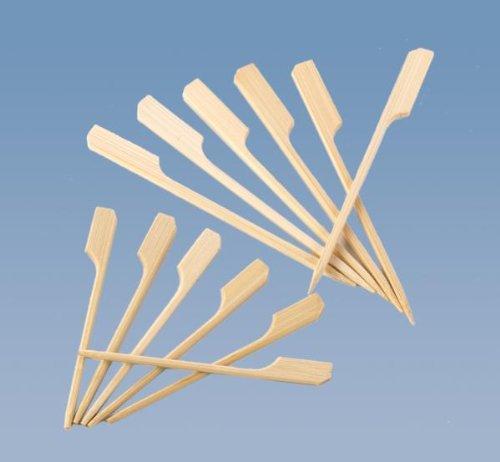 tib 10520 Bambus-Spieße 200 Stück pro Box, Länge 9 cm, mehrfarbig, Einheitsgröße