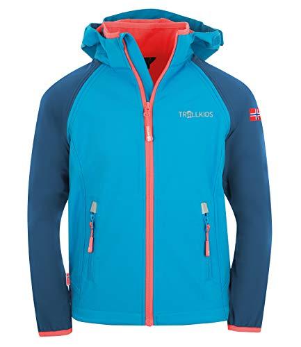 Trollkids Rondane Softshell Jacke Zip Off, Mitternachtsblau, Größe 116