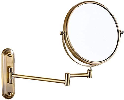 Wandspiegel, Spiegel 3 mal Teleskopvergrößerungsspiegel Badezimmerspiegel im Schlafzimmer oder im Bad rasiert,Bronze