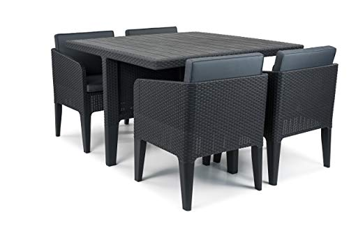 Keter Dining Set, Columbia, 5 pièces, Graphite, 56 x 54 x 68 cm, 17202279