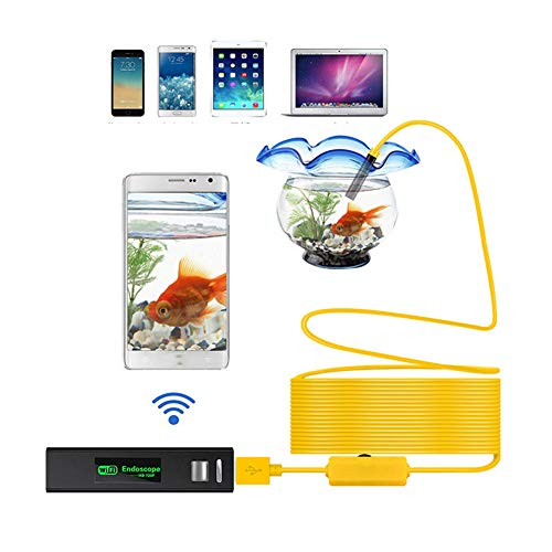 TYXS Endoscopio Movil Inspeccion Camara 8MM WiFi Endoscopio Camara HD Prueba de Agua 500mAh Endoscopica para iPhone iOS Android Smartphone Tablet-1M