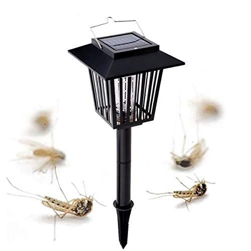 PRUNUS Luz exterior solar para el control de Mosquitos/Luz atrapa bichos - Función dual - Mata insectos & Luz de Jardín - Solo uso nocturno - Sólo carga solar en modo UV o WHITE