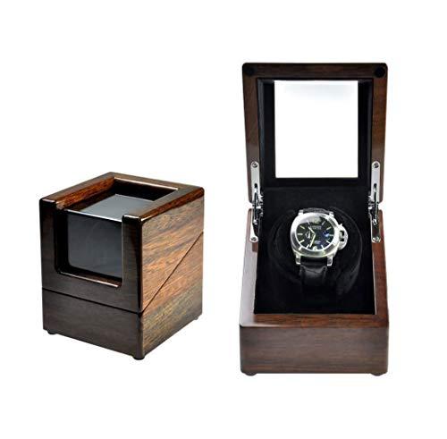 SMSOM Reloj Winder, para Relojes automáticos, con Almohadas de Reloj Flexibles, Concha de Madera, (patrón de Madera) (Color : A)