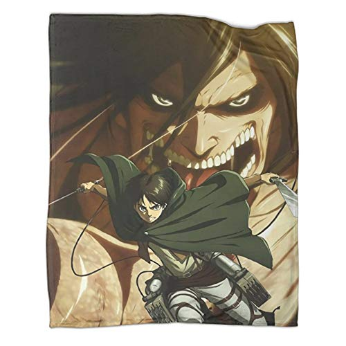 Xaviera Doherty Attack on Titan Wonderful Limited Anime beliebte Decken, 130 x 180 cm, weiche und bequeme Bettdecke, Kinderbettwäsche