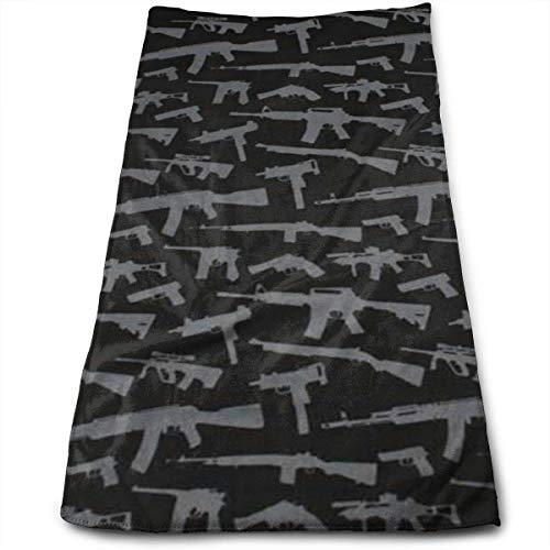 N/Q Toallas de Mano Pistolas Patrón Super Absorbente Toallas para secar el Cabello Toallas Multiusos para baño, Mano, Cara, Gimnasio y SPA