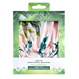 EcoTools Reusable Shower Cap for Women with Travel Storage Case, Made with Recycled and Sustainable Materials, White/Blue, 1 Set