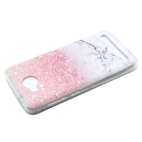 Funluna Huawei Y3 II / Y3 2 Hülle, Transparent Weiche TPU Silikon Handyhülle Feder Muster Hülle [Crystal Klar] TPU Bumper Case Schutzhülle für Huawei Y3 II/Huawei Y3 2 - Marmor - 4