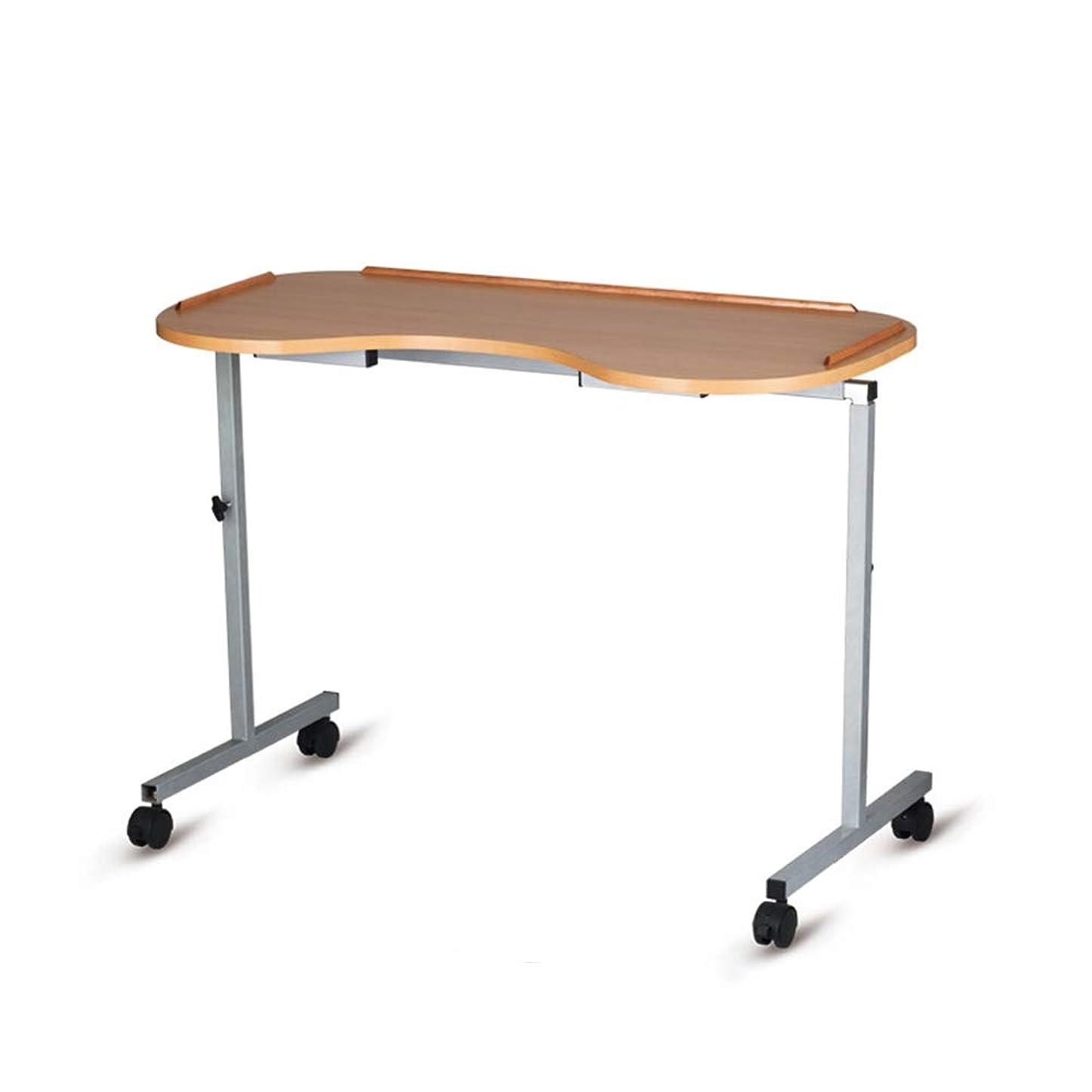 歴史家猟犬社会主義者ポータブルオーバーベッドテーブル、高さ調節可能な車輪付きテーブル、傾斜面、食事用、高齢者、身障者用