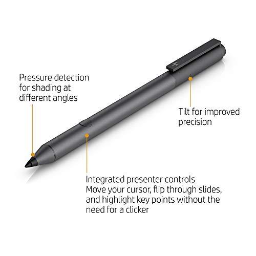 HP Tilt Pen (2MY21AA) Digitaler Eingabestift (2 programmierbare Tasten, Bluetooth, aufladbar) schwarz