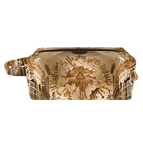 Neceser de viaje, bolsa de viaje impermeable, bolsa de aseo para mujeres y niñas Charles Boromeo iglesia 18,5 x 7,6 x 13 cm