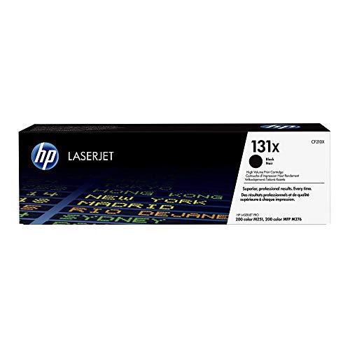 HP 131X (CF210X) Schwarz Original Toner mit hoher Reichweite für HP LaserJet Pro 200 Color M251, MFP M276