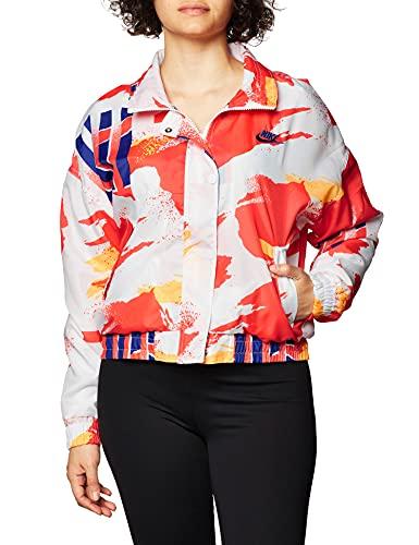 NIKE W NKCT Jacket NY NT, Mujer, White/Solar Red/Citrus/Ultramarine, M