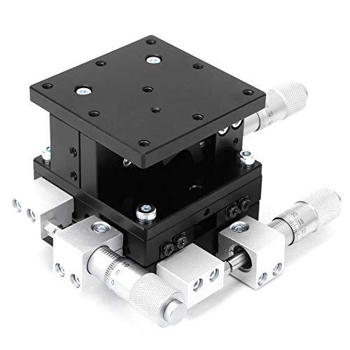 Plataforma lineal de 3 ejes XYZ, plataforma de recorte manual XYZ, plataforma deslizante de guía de rack de aleación de aluminio para instrumentos ópticos Dispositivos de medición Máquinas de prueba E