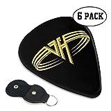TONICKZILLA Van Halenヴァンヘイレン ギターピック オシャレ ベース、カポタスト ギター、カポ アコースティックギター、ウクレレ、エレキギター用 ピック トライアングル 6枚セット プレゼント