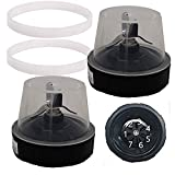 joystar 2pcs replacement parts blade with 7 male fins assembly extractor blade gasket for 1200W Ninja Auto-IQ Smooth Boost Blender:BL490 30/BL491 30/BL492 30/BL492W 30/ BL493Z 30/BL494 30 (10, 20)