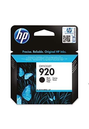 HP 920 CD971AE, Negro, Cartucho de Tinta Original, compatible con impresoras de inyección de tinta HP Officejet Series 6000, 7000