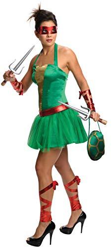 SECRET WISHES Damen Women's Wizard Oz Wicked Witch of The West, Kostüm, Jugendlicher, Mutant Ninja, Schildkröte, Raphael, Erwachsene, weiblich, grün, Größe: XS (US), Siehe Abbildung, X-Small