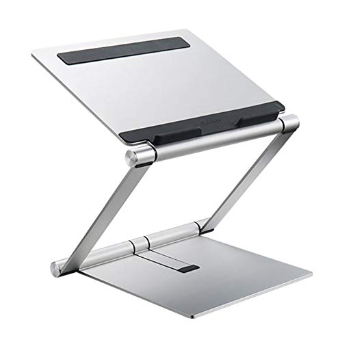 Laptop Stands,Adjustable Height Laptop Computer Stand for Desk, Ergonomic Aluminum Laptop Notebook Holder with Heat-Vent, Laptop Riser Compatible for 13-15.6' Laptops - Silver