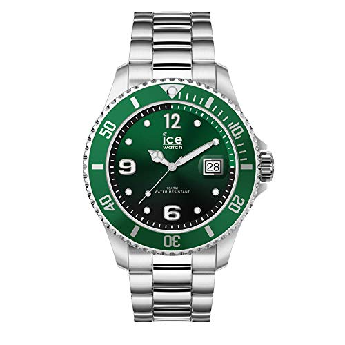 Ice-Watch - Ice Steel Green Silver - Orologio da Uomo con Cinturino in Metallo - 016544, Medium, Verde