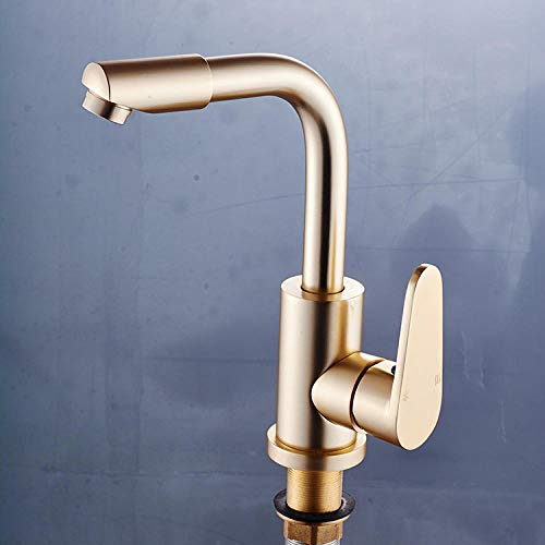 Grifería de cocina moderna de 360 °grifería simple grifería de cocina diseño El grifo del lavabo de baño de oro local se puede convertir en el grifo de la cocina del lavabo del pedestal del baño