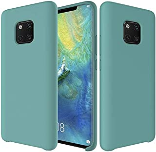 Case Premium Ultra Slim Shockproof Liquid Silicone Soft Rubber Comfortable Protective Case Design For Huawei Mate 20 Pro Silicone Phone Cover (Color : Light Blue)