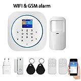 WIFI GSM-Sistema de inteligente-Alarma 433 MHz-Compatible con aplicación Tuya-Detector de movimientos-Control Sistema de alarma inalámbrica antimanipulación
