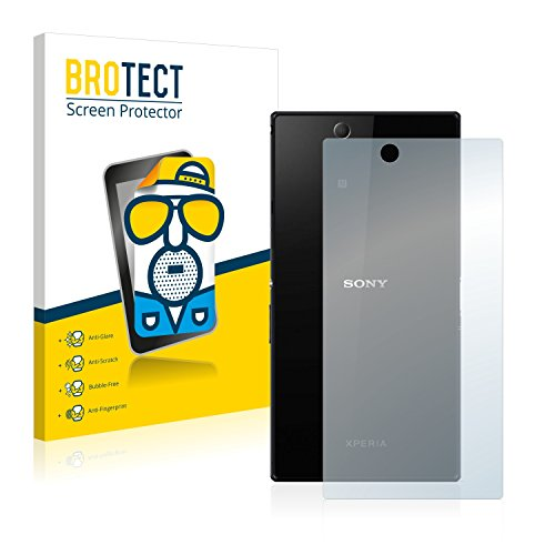 BROTECT 2X Entspiegelungs-Schutzfolie kompatibel mit Sony Xperia Z Ultra C6833 (Rückseite) Bildschirmschutz-Folie Matt, Anti-Reflex, Anti-Fingerprint