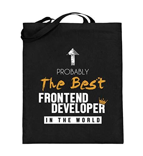 Generisch Bolsa de yute de Frontend, Best Frontend Developer World, bolsa de algodón