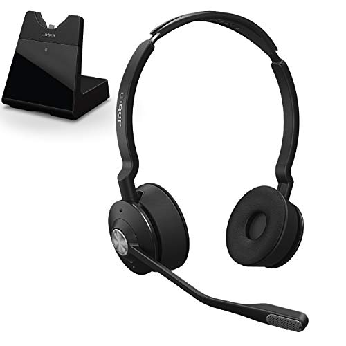 Jabra Engage 75 Wireless Headset, Stereo – Telephone Headset with Industry-Leading Wireless Performance, Advanced Noise-Cancelling Microphone, All Day Battery Life
