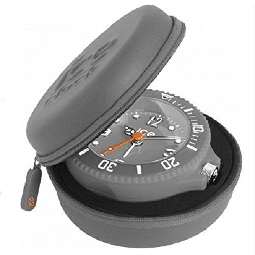Ice-Clock Travel Alarm Clock - Silver