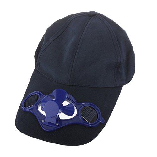 YIGO Unisex-Youth Solarbetriebene Air Fan gekühlte Baseball-Mütze, Cap Colour:Black Colour:Blue or Random, Minimum Head Circumference: Approx. 20 inch / 50.8cm