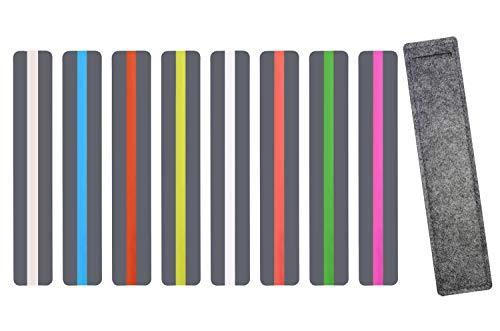 Leselineal für Highlight-Text, farbiges Lesezeichen, 8 Packungen von Fenster-Leselineal (farbige Overlays/getönte Overlays)