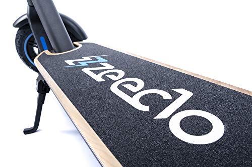 ZEECLO Patinete ELÉCTRICO Elektra Batería Litio 15Ah, 36V, Autonomía Máxima 45 km Motor ZeroFriction Tracción Trasera 600W Potencia Máxima Ruedas Neumáticas 10' App