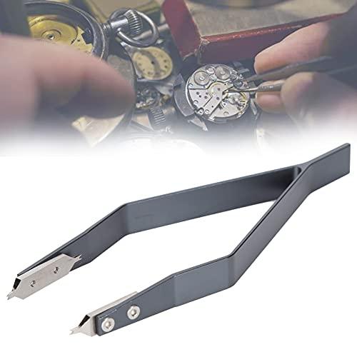 Pinzas para barra de resorte de reloj, larga vida útil en forma de V Herramienta de alicates de barra de resorte para reloj profesional para ajustar la correa de reloj para quitar las
